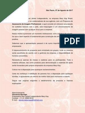 Carta De Apresentação De Proposta Consultor Qualidade