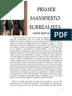 Primer Manifiesto Surrealista André Breton - Copia
