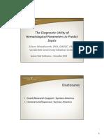 Parametros Hematologicos Sepsis