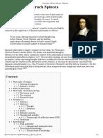 Philosophy of Baruch Spinoza - Wikipedia