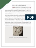 Conflicto Entre El Tíbet y La República Popular China