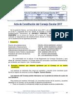 Acta Constitucion Consejo Escolar