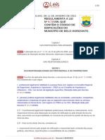Decreto 13842-2010-BH - Atrelada Ao Código de Obras de BH