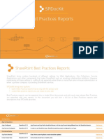 SPDocKit Best Practice Reports