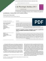 Control Del Engaño en Evaluacion Psic Forense en Violencia de Género 2013