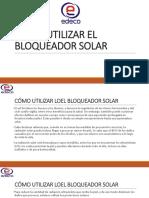 Cómo Utilizar Los Bloqueador Solar