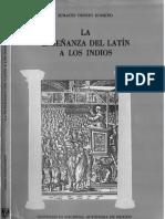 La enseñanza del latín a los indios