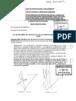 EN SEGUNDA VOTACIÓN SE MODIFICÓ EL ARTÍCULO 41 DE LA CONSTITUCIÓN