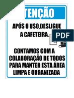 AVISO CAFETEIRA