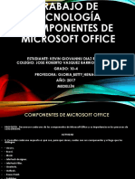 353398268 Trabajo de Tecnologia Componentes de Microsoft Office Mf Pptx