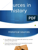 2. Sources in History