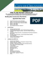 Fire Plans Review Checklist