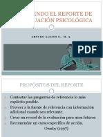 Redactando el  Informe de Evaluacion Psicologica