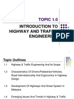 Chapter 1.0 Introduction to Highway and Traffic Engineering