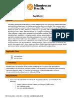 Audit Program Policy