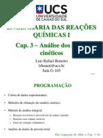 Cap. 3 - Análise Dos Dados Cinéticos