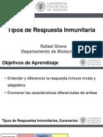 Tipos de Respuesta Inmunitaria(U1)