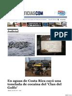 En Aguas de Costa Rica Cayó Una Tonelada de Cocaína Del 'Clan Del Golfo'