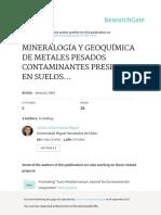 Mineralogia y Geoquimica de Metales Pesados Contam