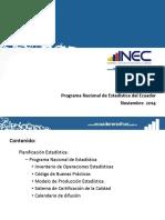 PresentacionProgramaNacional de Estadistica