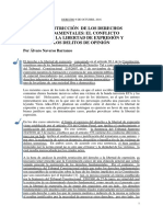 La Restricción de Los Derechos Fundamentales El Conflicto Entre La Libertad de Expresión y Los Delitos de Opinión. Por Álvaro Naveros Barranco