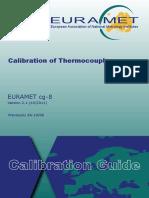 EURAMET Cg-8 v 2.1 Calibration of Thermocouples
