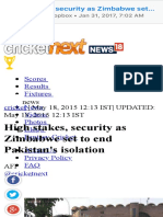 High Stakes, Security as Zimbabwe Set to End Pakistan's Isolation