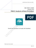 PR021 Analysis of Data Procedure