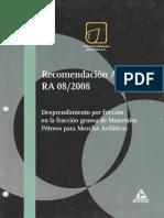 Recomendación AMAAC RA 08 2008