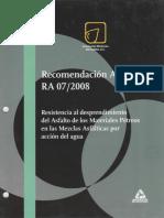Recomendación AMAAC RA 07 2008
