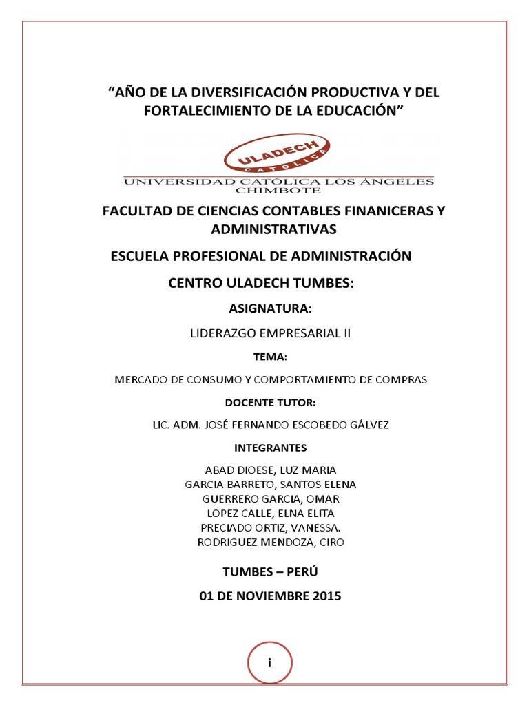 MONOGRAFIA DE MERCADO DE CONSUMO Y COMPORTAMIENTO DE COMPRA docx