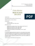Ficha t Cnica Nitrato de Amonio