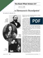 Larouche - Leibniz From Riemann's Standpoint
