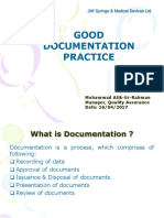 Good Documentation Practice