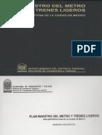 Plan Del Metro y Trenes Ligeros Area Metropolitana de La Ciudad de Mexico