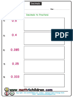 Converting Decimals To_fractions
