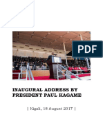 Inaugural Address by Rwanda President Paul Kagame