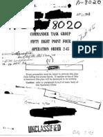 WWII 1945 U.S.S. Yorktown Task Group I