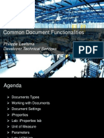 Common Document Functionalities