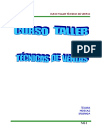 Curso Taller Técnicas de Ventas