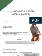 Diagnóstico Del Embarazo Signos y Síntomas