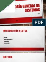 Teoría General de Sistemas - introducción