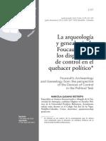 13-1 Quijano Restrepo - Arqueologia y Genealogia Foucault