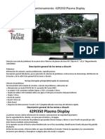 Manual de Entrenamiento 42PJ350 Plasma Display