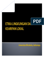 Etika Dan Kearifan Lokal