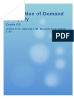 Demand and Supply Crude Oil