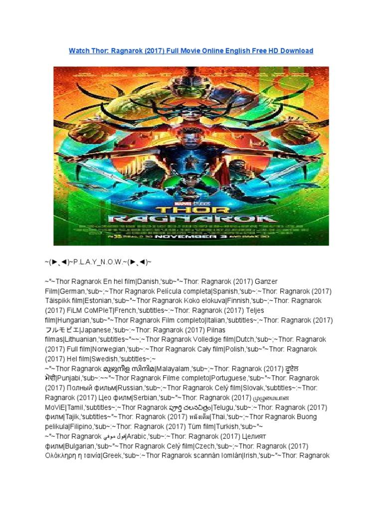 thor ragnarok telugu full movie download torrent