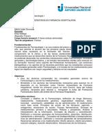 Fundamentos de Farmacología I