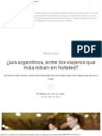 ¿Los Argentinos, Entre Los Viajeros Que Más Roban en Hoteles