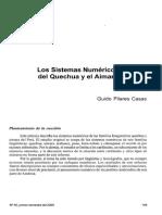 Sistemas Numericos Del Quechua y El Aimara Guido Pilares